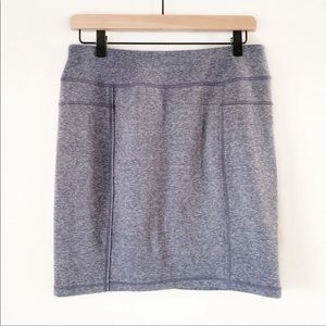 Athleta | Heathered Gray Athletic Knit Mini Skirt